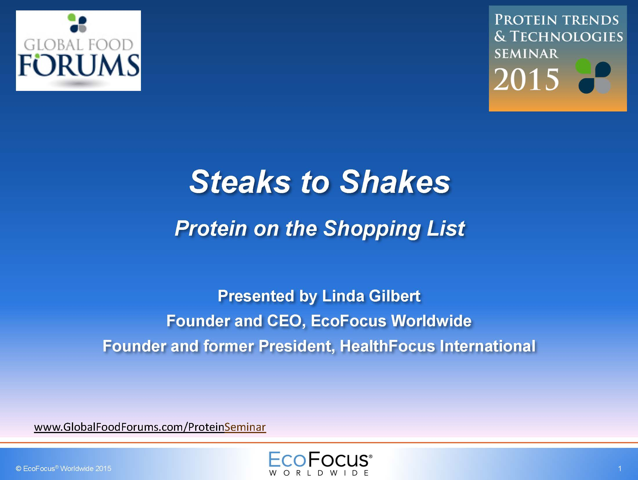 Linda Gilbert Shopping for Protein 2015 PTT