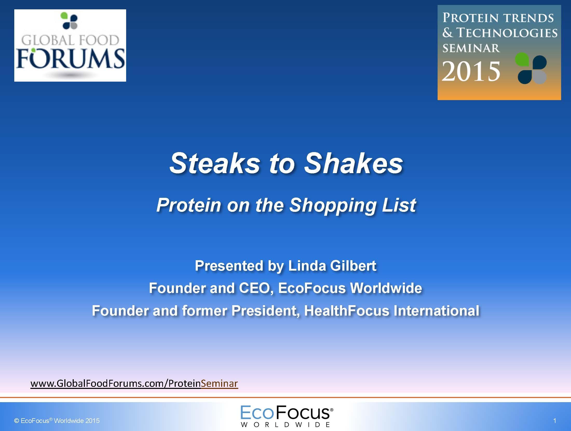 Linda Gilbert Shopping for Protein 2015 PTT