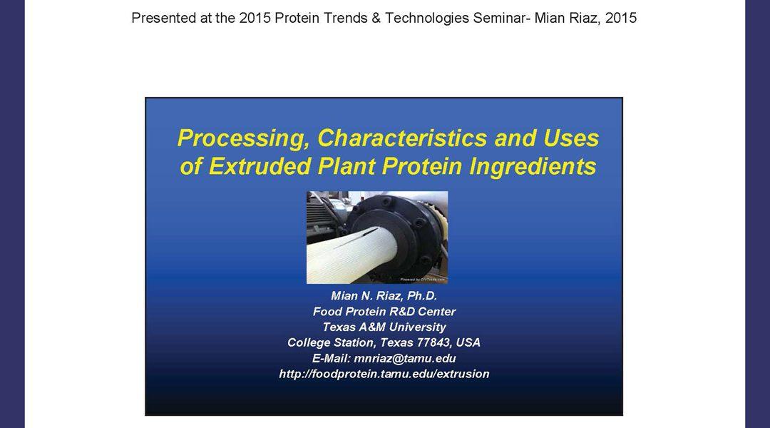 Plant Protein Extrusion Presentation