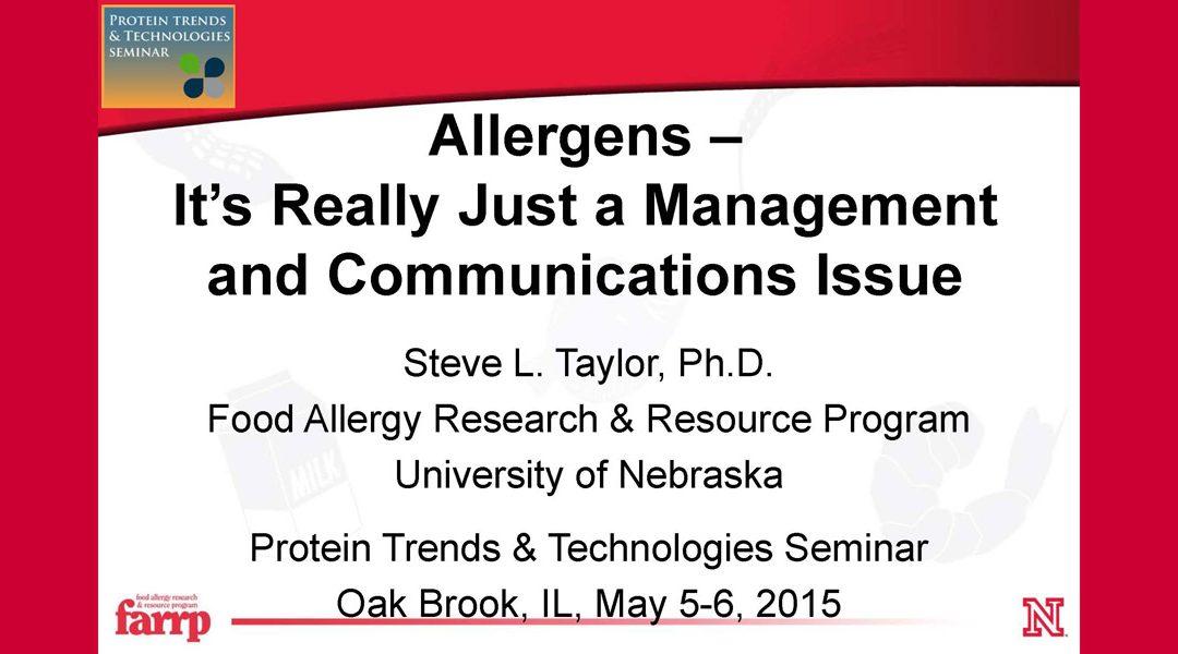 Protein Allergens Presentation