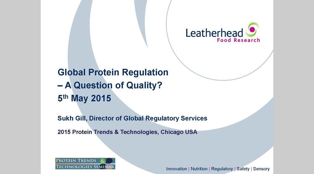Protein Regulations Presentation