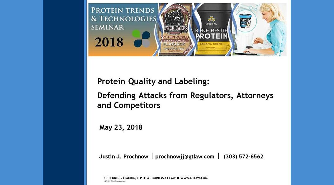 Protein Quality and Labeling Legalities Presentation