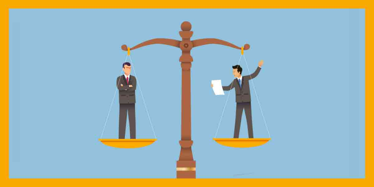 The Food Industry's Current and Future Regulatory Environment. A scale of justice represents the food industry's regulatory environment.