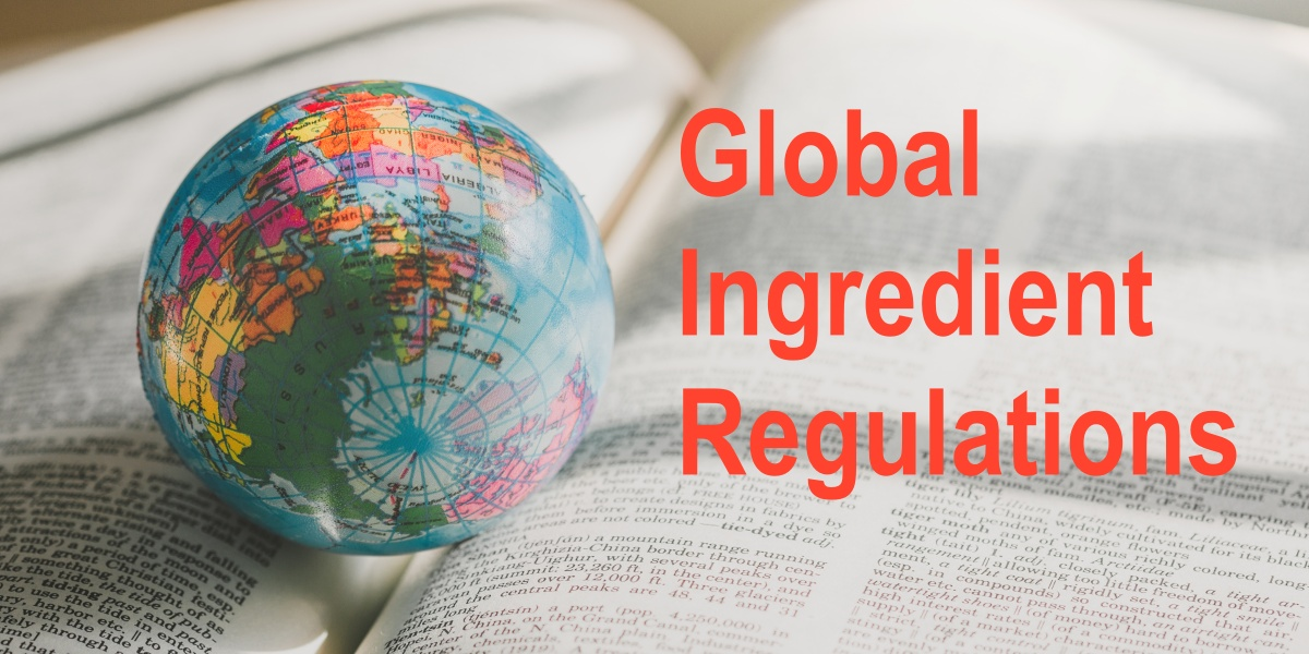 Global ingredient regulations differ from country to country, making product development of foods marketed in dffierent countries a challenge.