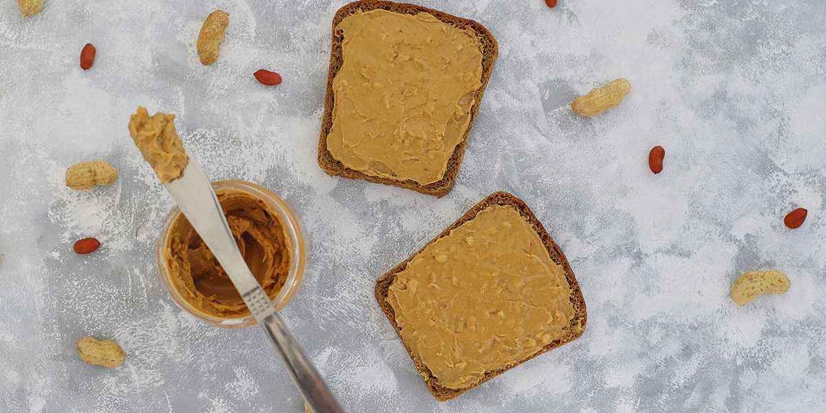Peanut butter and bread have complimentary essential amino acid compositions. When combined, they become a more complete protein.
