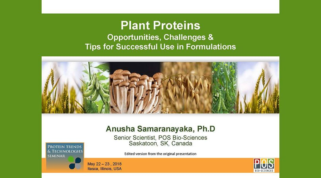 Plant Protein Physiochemical Properties Presentation
