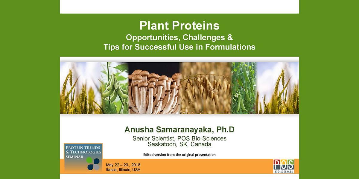ANUSHA SAMARANYAKA PLANT PROTEIN PHYSICHEMICAL PROPERTIES 2018 PTT
