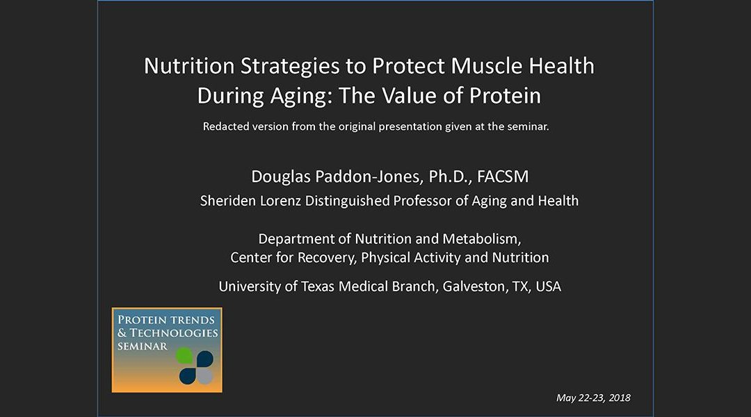 Protein and Muscle Health During Aging Presentation