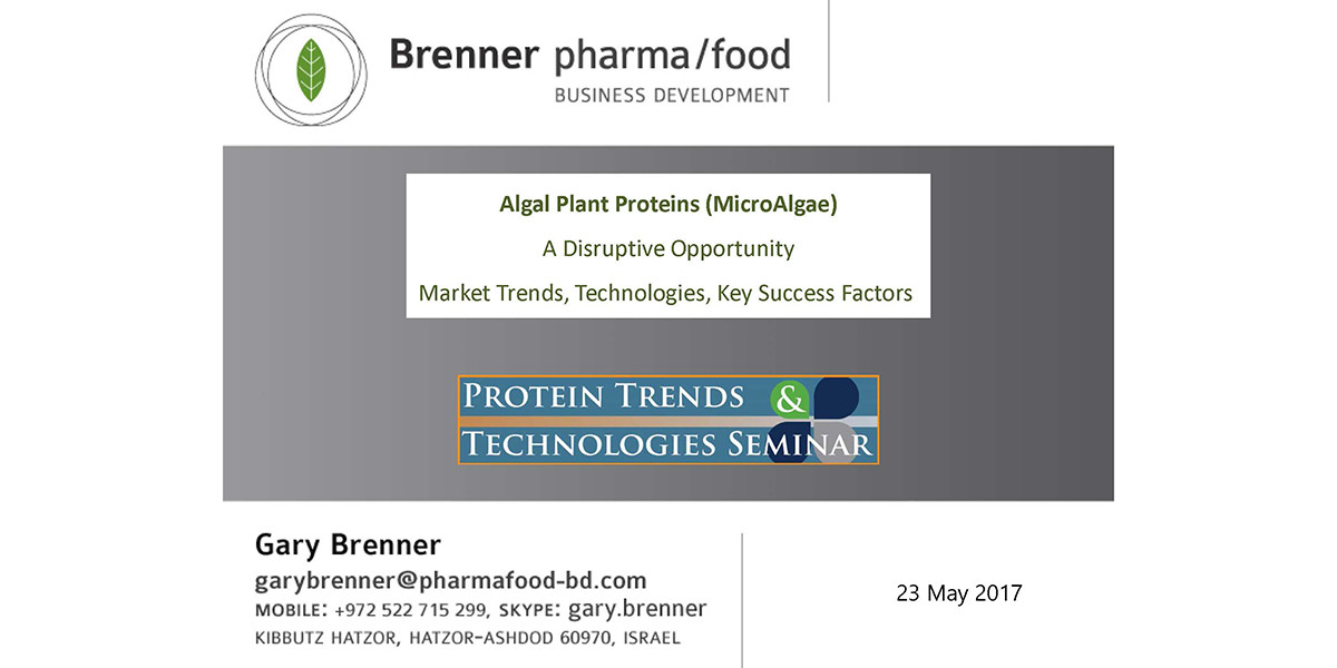 GARY BRENNER ALGAL PLANT PROTEINS 2017 PTT