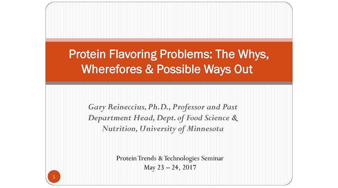 Protein Flavoring Challenges Presentation