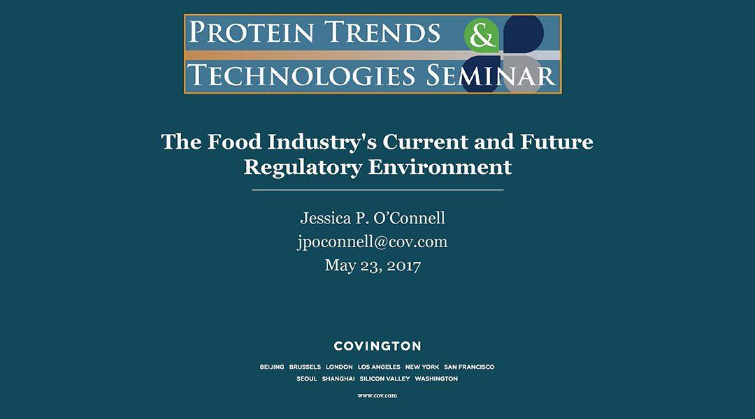 Current and Future Regulatory Environment Presentation