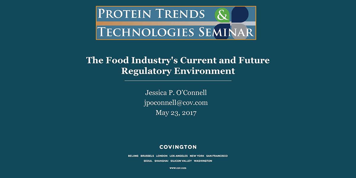JESSICA OCONNELL CURRENT AND FUTURE REGULATORY ENVIRONMENT 2017 PTT