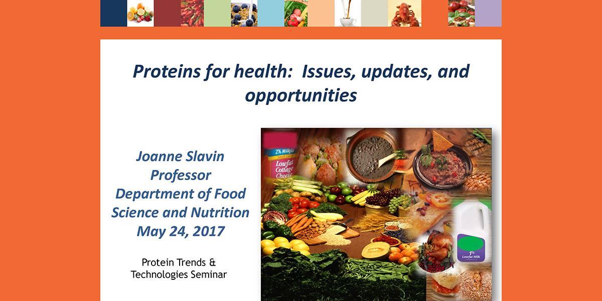 JOANNE SLAVIN PROTEINS FOR HEALTH 2017 PTT