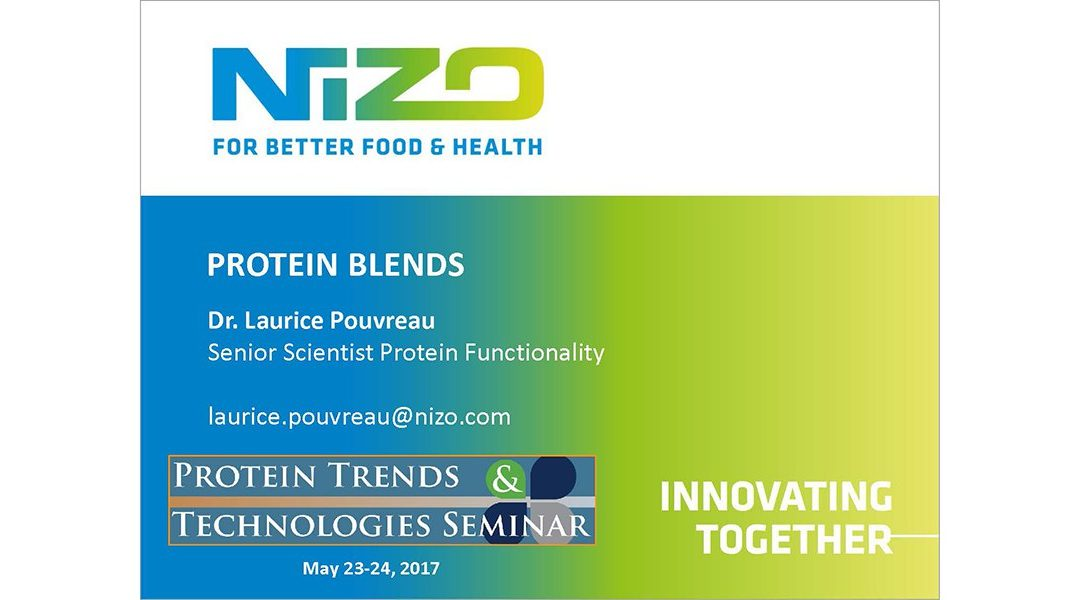 Protein Blends for Functionality Presentation