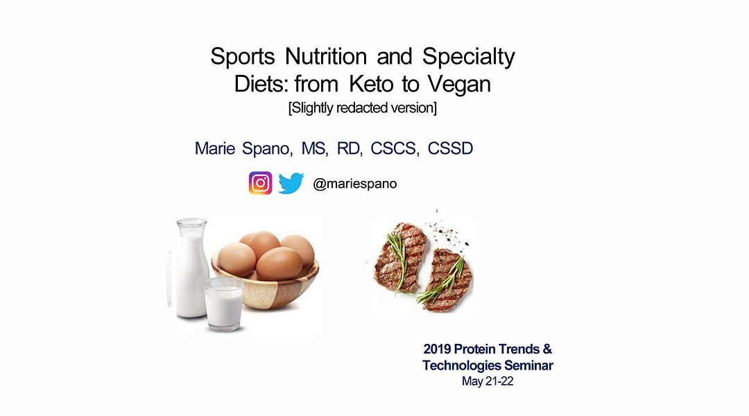 Sports Nutrition Specialty Diets Presentation