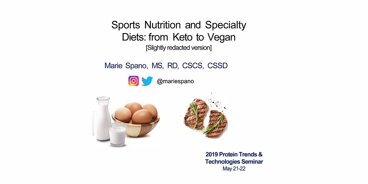 MARIE SPANO SPORTS NUTRITION SPECIALITY DIETS 2019 PTT