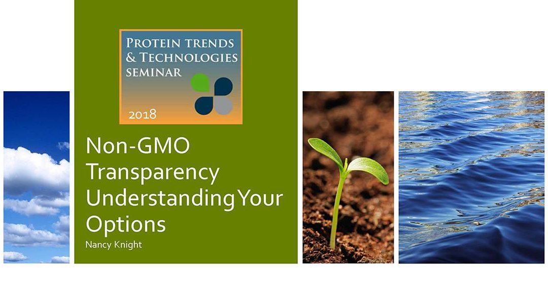 Non GMO Certification Presentation