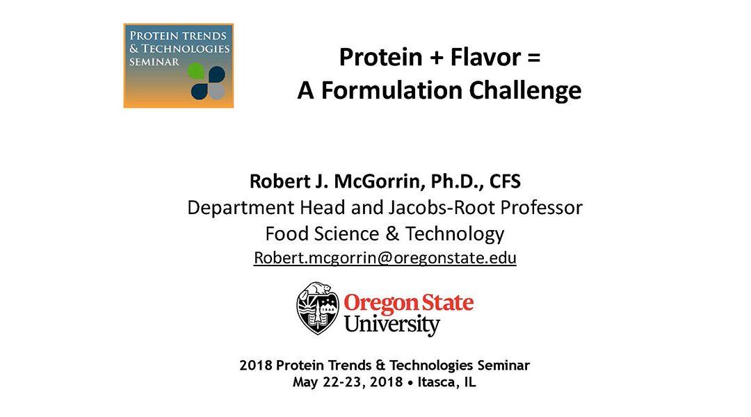 Protein and Flavor-A Formulation Challenge Presentation