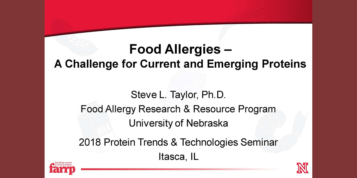 STEVE TAYLOR PROTEIN AND FOOD ALLERGIES 2018 PTT
