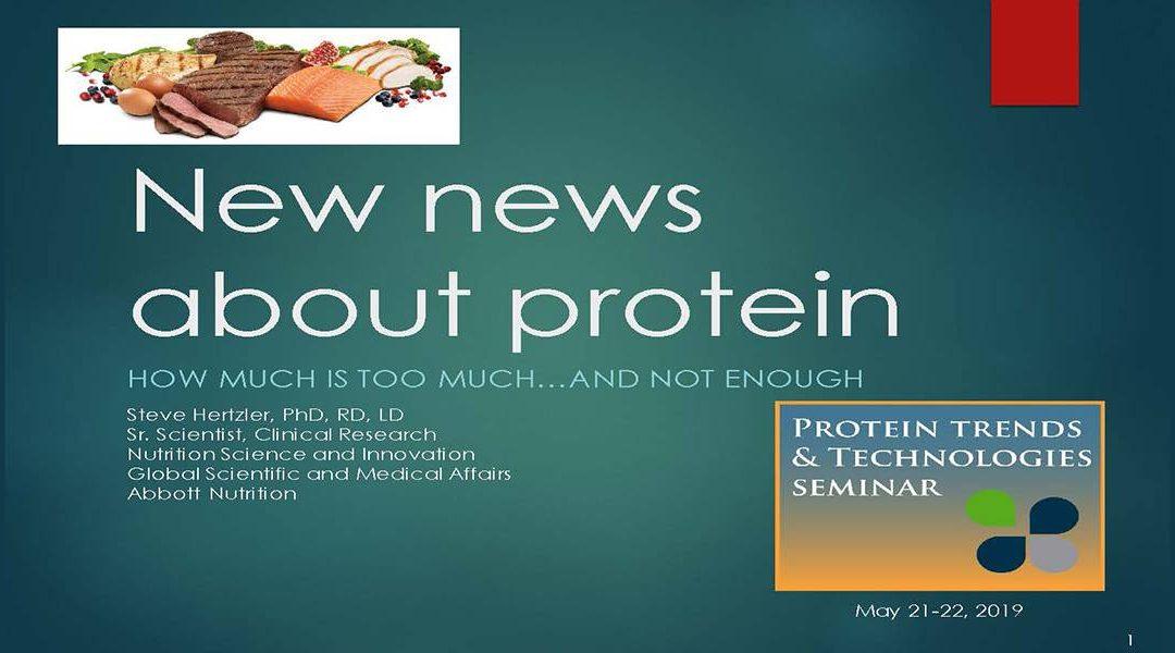 Protein Nutrition Needs Presentation
