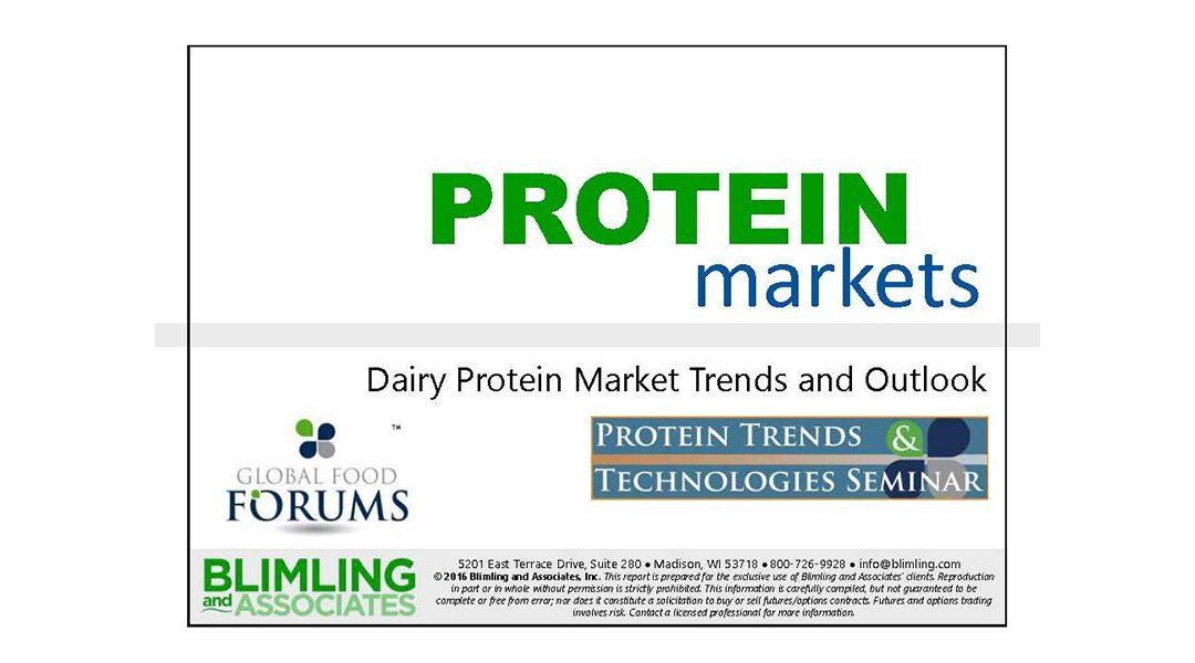 Dairy Protein Market Trends & Outlook Presentation