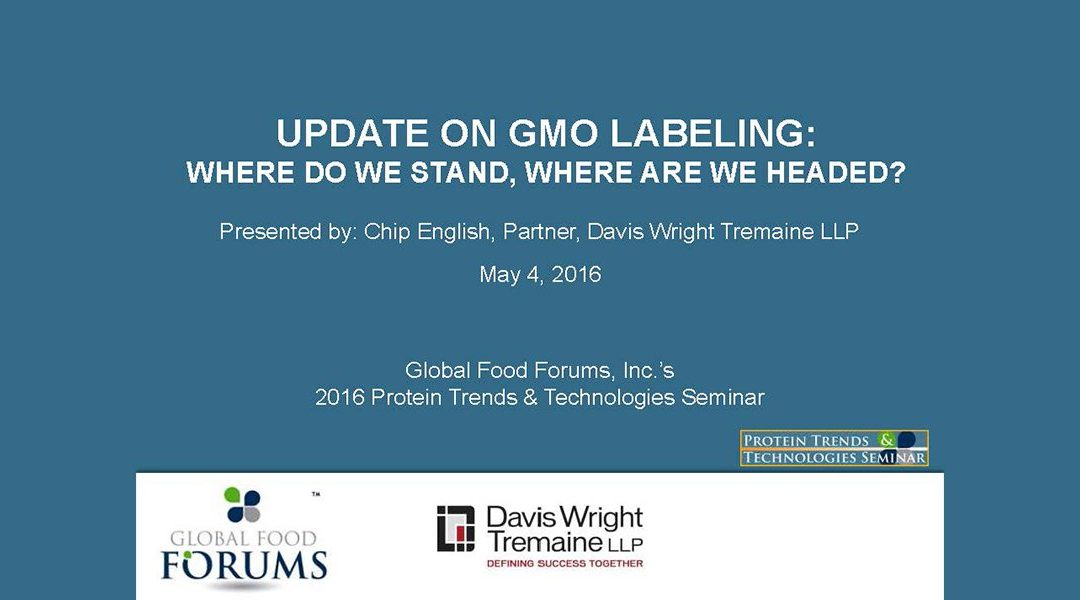 Update GMO Labeling Presentation