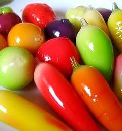 Photo of colorful mung bean luk chup marzipan