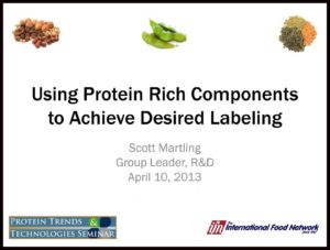 "Click to download presentation ""Using Protein Rich Components to Achieve Desired Labeling"""