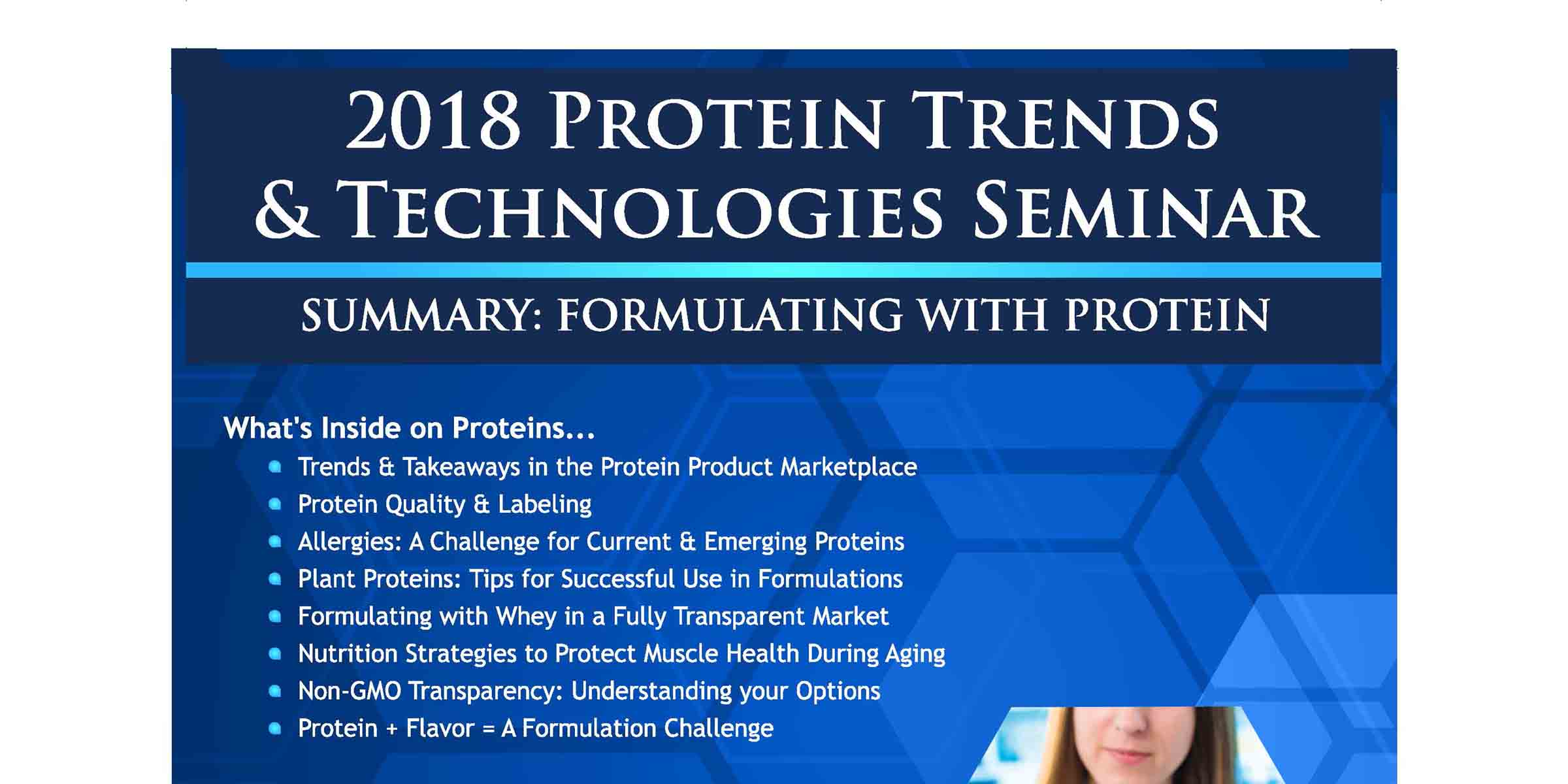 2018 PROTEIN Trends Technologies Post Conference Formulating Magazine FEATURE