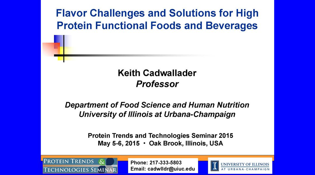 Flavor Challenges and Solutions for High Protein Foods Presentation