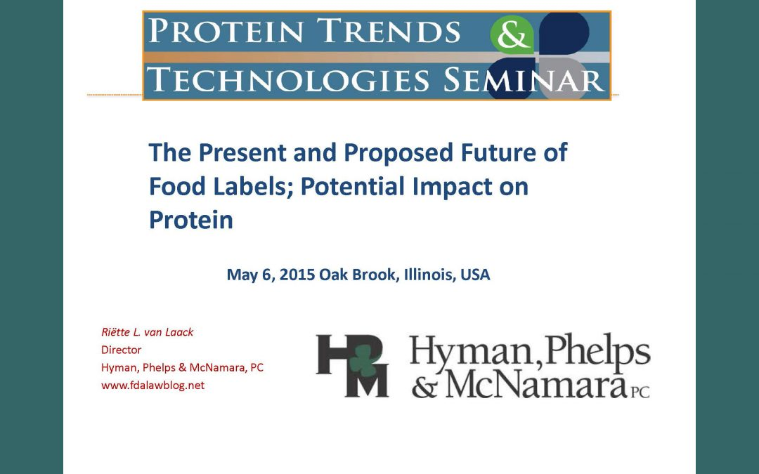The Present and Proposed Future of Food Labels Presentation