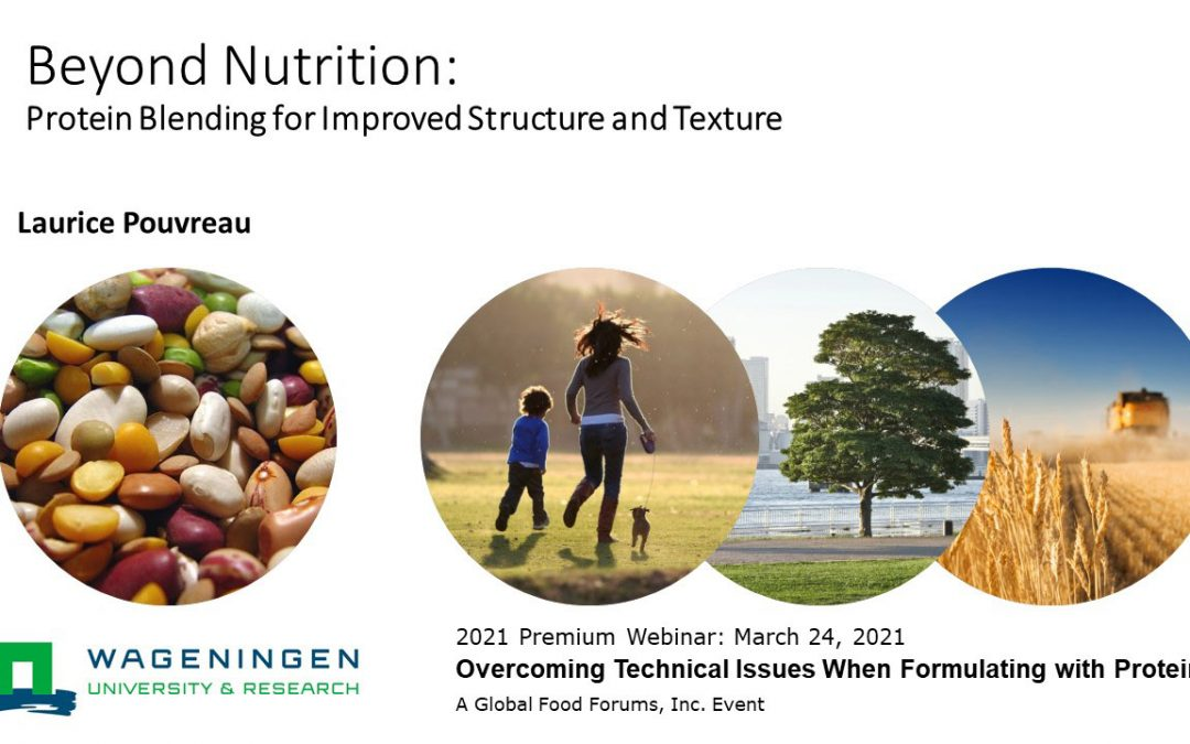 Beyond Nutrition-Protein Blending for Improved Structure and Texture