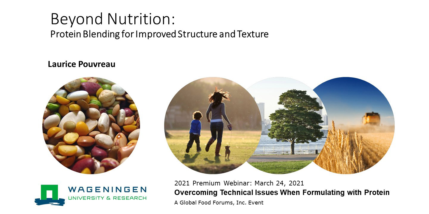Beyond Nutrition Protein Blending for Improved Structure and Texture