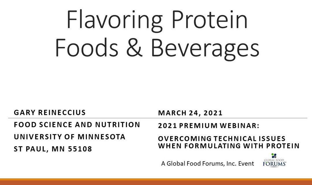 Flavoring Protein Foods and Beverages