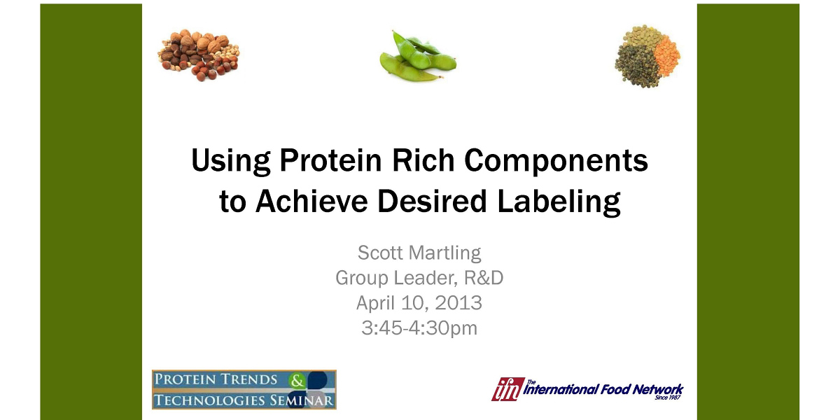 Using Protein Rich Components to Achieve Desired Labeling by Scott Martling