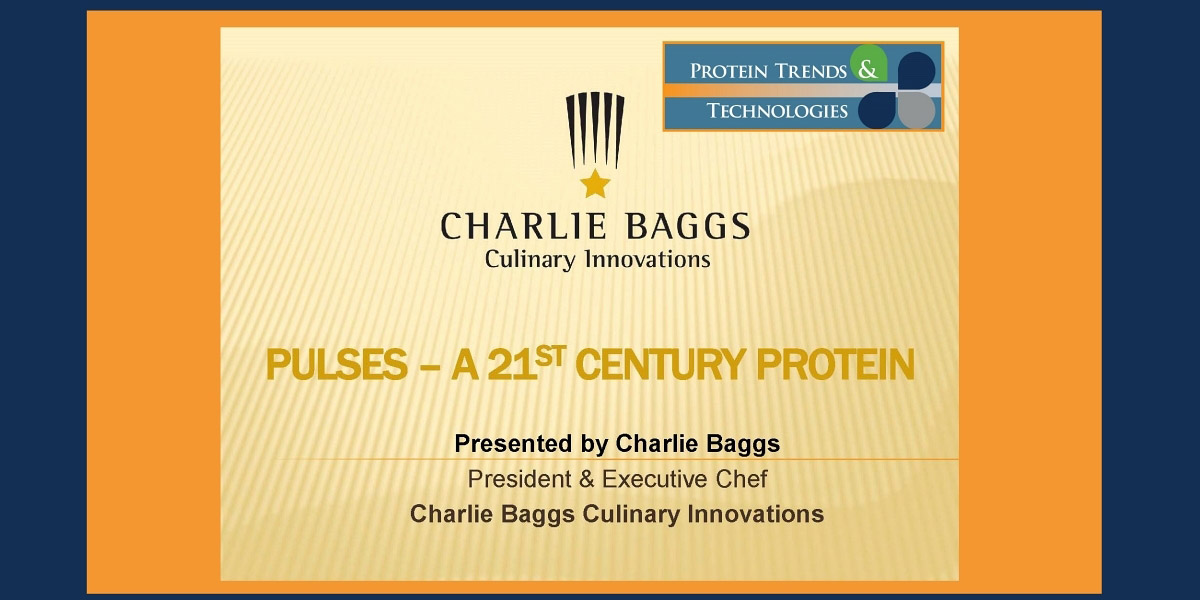 Pulses- A 21st Century protein presented by Charlie Baggs